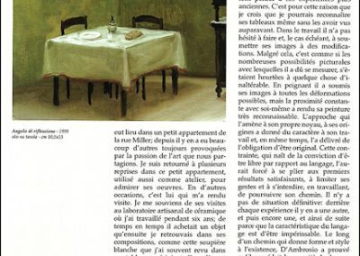 Il cielo - Angolo di riflessione - 1998 olio su tavola – 10,5×13 cm