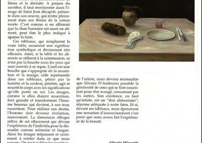 Alimenti che saziano - 1997 olio su tela 50×70 cm