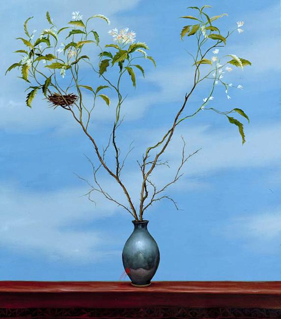 Della fragilità - 2001 – olio su tela 60×50 cm