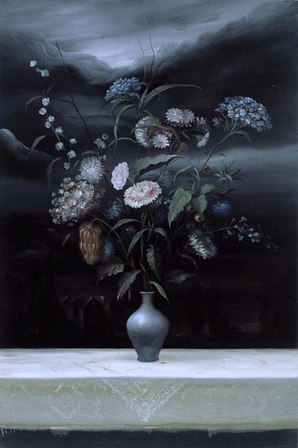 Vaso ferito - 2001 – olio su tela – 120×80 cm
