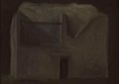 8-2007-Rovina eterea-olio su tavola cm 31x37