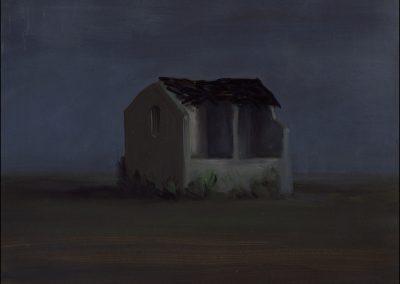 9-2007-Rovina insonne-olio su tavola cm.31x37