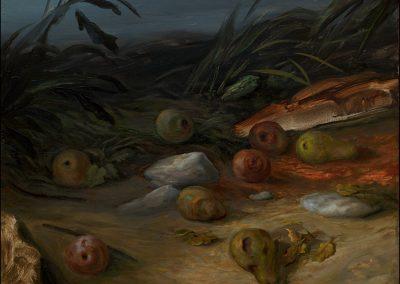 Corte dei miracoli - olio su tavola 2013 - 29x35