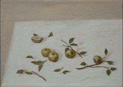Mele inermi - olio su tela 2012 - 50x70