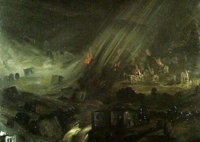Notte clamorosa 1996 – olio su tela – 140×120 cm