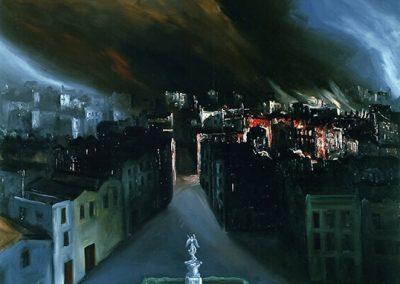 Prospettiva oscura 1998 – olio su tela – 120×100 cm