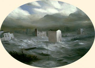 L'unità del disastro 1997 – olio su tela – 70×100 cm
