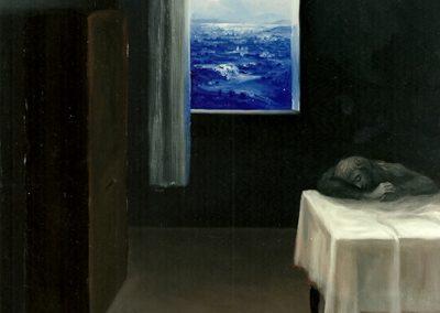 Sogno d'ombra 1996 – olio su tela – 60×50 cm