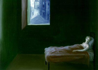 Insonnia 1997 – olio su tela – 35×40 cm