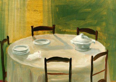 Luogo d'intesa 1997 – olio su tavola – 35×40 cm