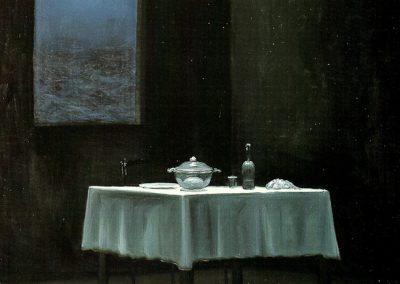 Il cuore della stanza 1997 – olio su tela – 100×120 cm