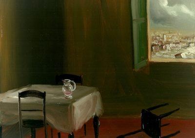 Senza preavviso 1997 – olio su tela – 21×26 cm