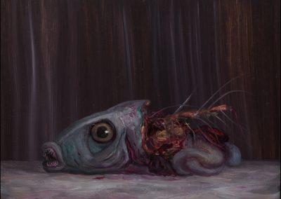 2017-Predatore predato 2-olio tavola 15x20